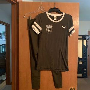 PINK VS Ultimate Leggings (sm) & shirt. (med)